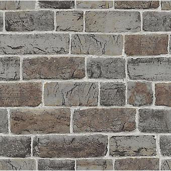 Brick Effect Wallpaper Natural Wall Urban Stone Embossed Industrial Rustic