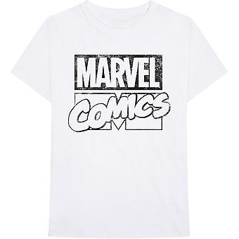 White Marvel Comics Logo Official Tee T-Shirt Unisex