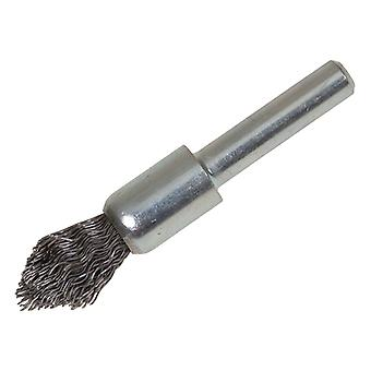 Lessmann Pointed End Brush with Shank 12/60 x 20mm 0.30 Steel Wire LES451162