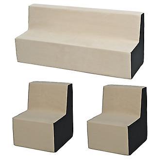 Schuim meubelset peuter uitgebreid beige & grijs