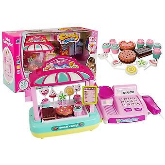 Speelgoed kassa marktkraam kinderkeuken accessoire roze