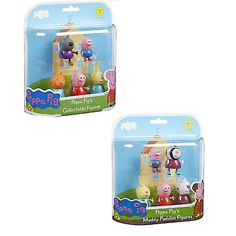 Peppa Pig Family Figure Pack - Klassiset tai mutaiset lätäkköversiot