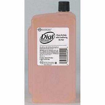 Dial Shampoo and Body Wash 1,000 mL Refill Peach Scent, 1 Each