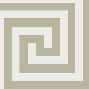 Athena Geometric Wallpaper Blanc / Silver Debona 4011