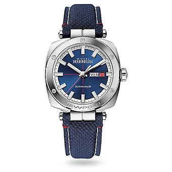 Michel Herbelin Newport Heritage Automatic | Blauwe leren band | Blue Dial 1764/42 Horloge