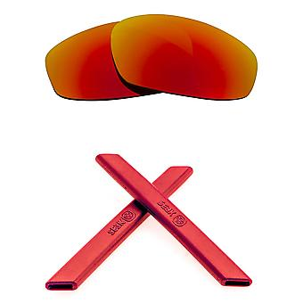 الاستقطاب استبدال العدسات & كيت ل Oakley سبليت سترة الأحمر مرآة والأحمر المضادة للخدش المضادة للوهج UV400 من قبل SeekOptics