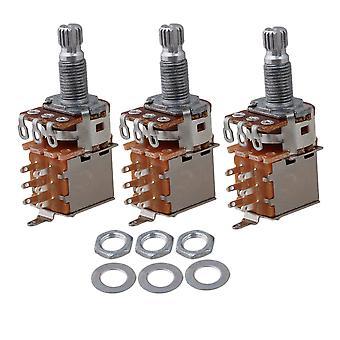 3pcs A250k Push Pull Guitar Control Pot Potentiomètre