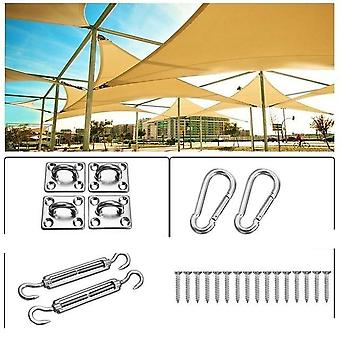 Waterproof Polyester, Square Rectangle, Shade Sail, Garden Terrace, Canopy
