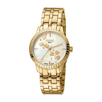 Ferre Milano Ladie's Champagne MOP Dial GP Stainle Steel Watch