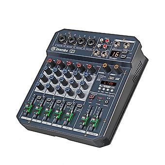 Professional X4/6 Channel Portable Digital Audio Mixer Console With Dsp Effect