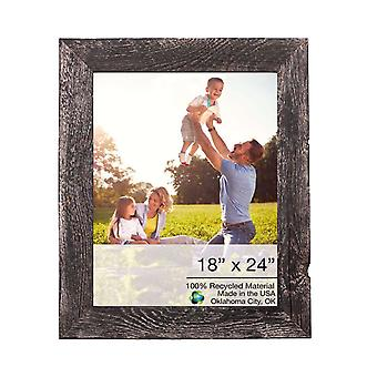 18x24 Rustic Smoky Black Picture Frame with Plexiglass Holder