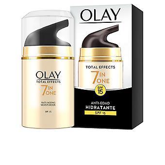 Efeitos totais do creme hidratante anti-envelhecimento Sfp 15 Olay (50 ml)