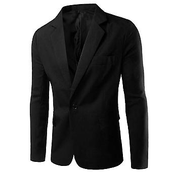 Men's Single-breasted Button  Autumn Solid Colorful Suit Jackets