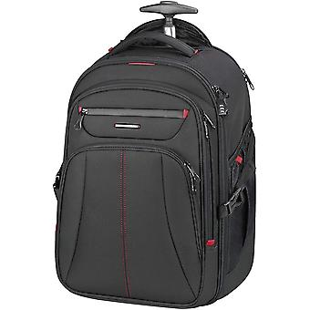 KROSER Rolling Laptop Backpack Premium Wheeled Computer Backpack Fits Up to 17 Inch Laptop Black/Red