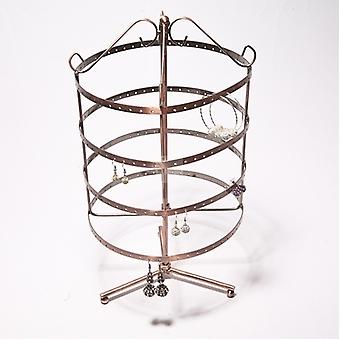 192 Holes Metal Earrings Jewellery/jewelry Display/show Hanging Stand Rack Holder - Round