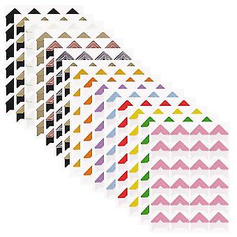 15 Sheets photo mounting corners, finegood self adhesive paper picture sticker for diy scrapbook alb