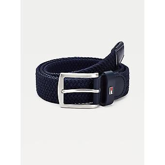 Tommy Hilfiger - Cintura elastica da uomo nera (Black Men's Elastic Belt)