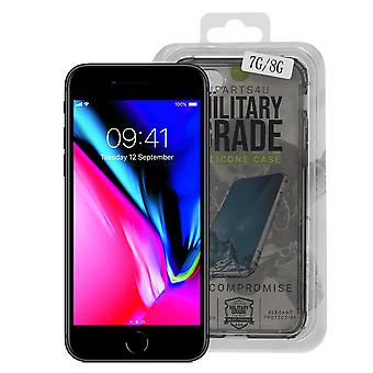 iParts4u תיק סיליקון ברמה צבאית - iPhone 7/8 - שחור