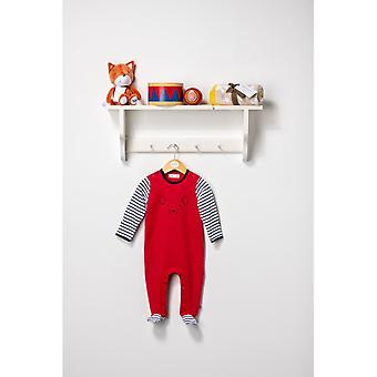 The Essential One Unisex Baby Sleepsuit Red