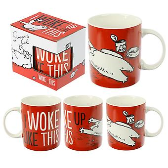 Collectable porcelain mug - simon's cat slogan