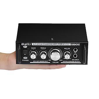 Teli AK-698C 2x300W Bass HIFI Karaoke Power Amplifier Support Microphone
