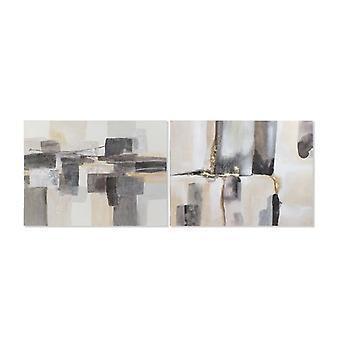 Maalaus Dekodonian abstrakti mäntykangas (2 kpl) (120 x 3 x 90 cm)