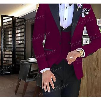 Jacket Pants Vest 3pcs Tuxedos