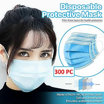 [300 Pcs] 3-ply Disposable Face Mask Non Medical Surgical Earloop