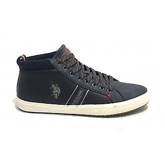 Sneaker Alto Us Polo Mod. Varan Ecopelle Color Dark Blue Man U20up15