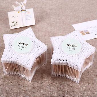 Dřevěná tyčinka Dvouhlavé ušní tampony bavlna