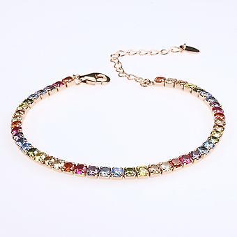 Tennis Bracelet With Raimbow Zirconian Stones