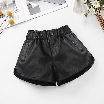 Kids Faux Leather Shorts For Autumn