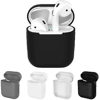 Ochranné kryty kompatibilní s Apple AirPods Case 4-Pack (černá, bílá, šedá a průhledná)