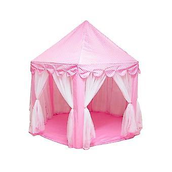 3 PCS Kannettavat lapset Princess Girl Castle Teltta Leikki talo Lapset Pieni Taittuva Baby Beach Telttatalo (Vaaleanpunainen)
