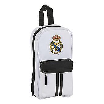 Lyijykynäkotelo Reppu Real Madrid C.F. 20/21 Valkoinen Musta (33 Kpl)