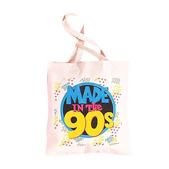 Retro Made in the 90's Canvas Tote Bag
