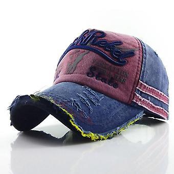 Letter Washed Cotton Baseball Snapback Hat