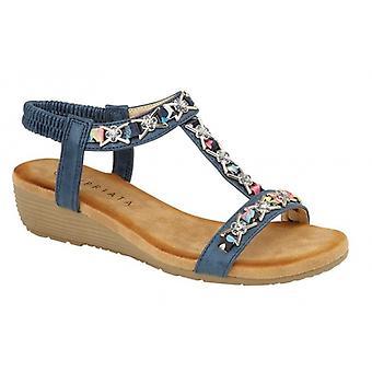 Cipriata Lia Damer Ankle Strap Sandaler Blå