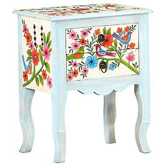 vidaXL Bedside Table Handpainted 40x30x50 cm Mango Solid Wood