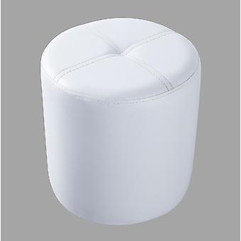 Diseños de Pilaster - Taburete Otomano Redondo (Vinilo Blanco)