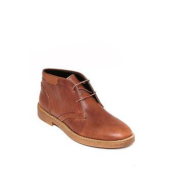 Genuine leather laced brown boots | wessi