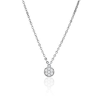 Eye Candy, women's necklace, sterling silver 925 rhodium, pendant with 7 white zircons, 45 cm, ECJ-NL0120