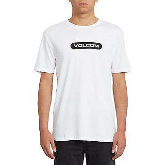 Volcom Nueva camiseta de manga corta Euro en blanco