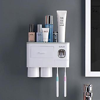 23cm Inverted Toothbrush Holder Automatic Toothpaste Squeezer Dispenser Storage |Toothbrush Holders