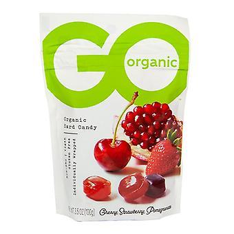 Go Organic Hard Candy Cherry, Mansikka, Granaattiomena