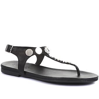 Inuovo Womens Ayla Leather Toe Post Sandals