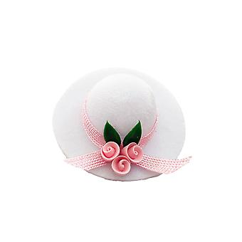 Dolls House White Lady's Hat Milliner Shop Accessory