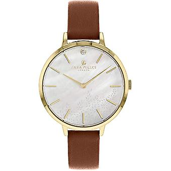 Sara Miller Sa2024 White Dial Leather Strap Watch For Women