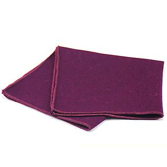 Karkea tekstuuri violetti paksu Tweed Villa tasku neliö
