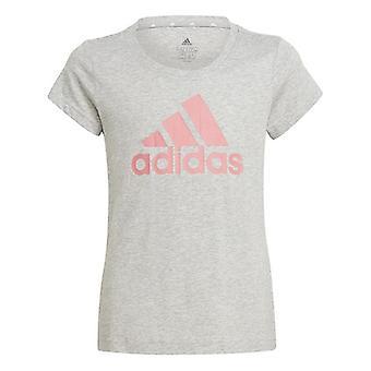 Barn kortärmad T-Shirt Adidas G BL T GN4071 Grå bomull